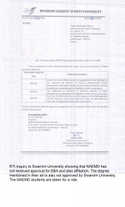 2. RTI abt SU abt no affiliation (changes)